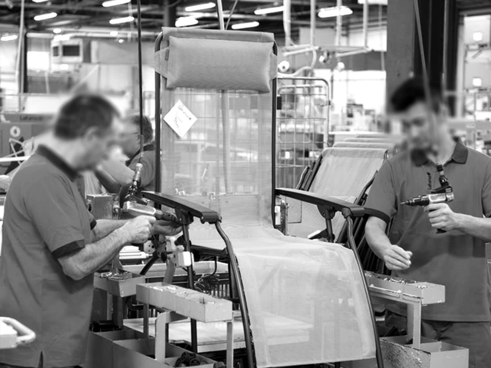 Fabrication fauteuril Lafuma Mobilier