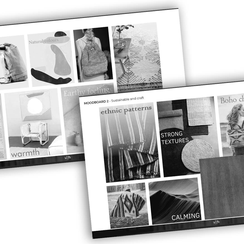 planches de tendance design sac